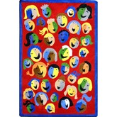 Joy Carpets Kid Essentials Joyful Faces Red