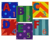 Joy Carpets Kid Essentials Letters Numbers Carpet Square Set Multi