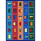 Joy Carpets Kid Essentials Library Blocks Multi