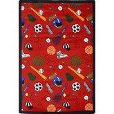 Joy Carpets Games People Play Multi Sport Red
