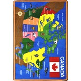 Joy Carpets Kid Essentials Oh Canada Multi