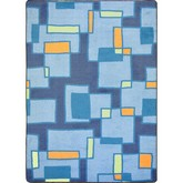 Joy Carpets Kid Essentials Outside the Box Cool Blue