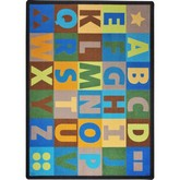 Joy Carpets Kid Essentials Oversize Alphabet Earthtone