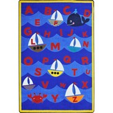 Joy Carpets Kid Essentials Sailors Alphabet Multi