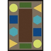 Joy Carpets Kid Essentials Sitting Shapes Earthtone