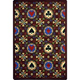 Joy Carpets Games People Play Stacked Deck Burgundy