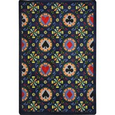 Joy Carpets Games People Play Stacked Deck Navy