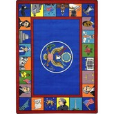 Joy Carpets Kid Essentials Symbols of America Multi