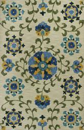 KAS Anise  2410 Ivory/Blue Allover Suzani