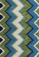 KAS Anise  2420 Blue/Green Chevron