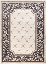 KAS Avalon Ivory and Grey Courtyard 5614