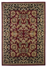 KAS Cambridge  7301 Red/Black Kashan
