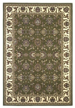 KAS Cambridge  7314 Green/Ivory Kashan