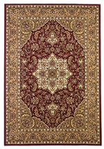 KAS Cambridge  7326 Red/Beige Kashan Medallion