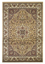 KAS Cambridge  7328 Beige/Ivory Kashan Medallion