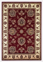KAS Cambridge  7340 Red/Ivory Floral Mahal