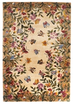 KAS Emerald  9019 Antique Beige Butterfly Garden