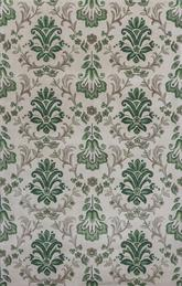 KAS Emerald  9038 Ivory/Green Damask