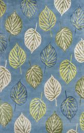 KAS Florence  4584 Ocean Blue Leaves
