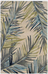 Kas Sparta 3126 Ivory Tropical Branches Area Rug Free
