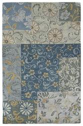 Kaleen Calais Blue Autumn Leaves-04 7504-17