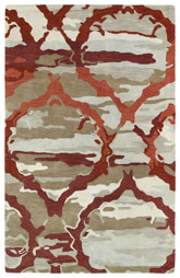 Kaleen Brushstrokes Red Brs02-25