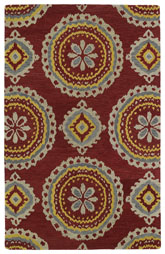 Kaleen Global Inspirations Red Glb09-25