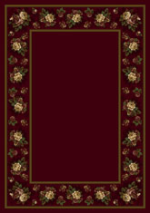 Milliken Design Center Floral Lace 10806 Cranberry II