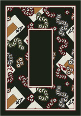 Milliken Theme Rugs 2 4 Of A Kind Border 7004