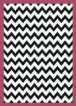 Milliken Black and White Vibe Border Pink