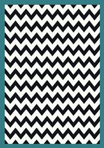 Milliken Black and White Vibe Border Turquoise