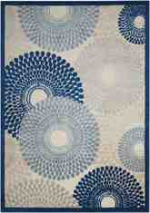 Nourison Graphic Illusions GIL04 Ivory and Blue