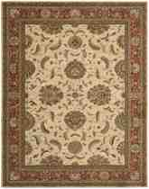 Nourison Living Treasures LI04 Ivory Red