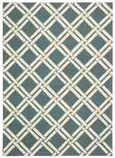 Nourison Linear LIN04 Teal Ivory
