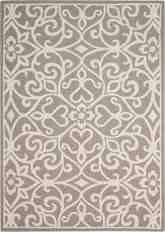 Nourison Linear LIN19 Silver and Ivory