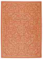 Nourison Home and Garden RS019 Orange