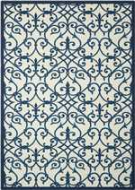 Nourison Home and Garden RS093 Blue
