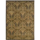 Oriental Weavers Casablanca 4464A Green and Ivory