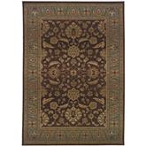 Oriental Weavers Genesis 952Q1 Brown and Blue