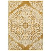 Oriental Weavers Jayden 7422F Gold and Ivory
