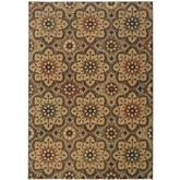 Oriental Weavers Kasbah 3808C Grey and Gold