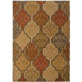 Oriental Weavers Kasbah 3832C Orange and Gold