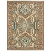 Oriental Weavers Anatolia 2060W Rust and Teal