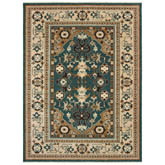 Oriental Weavers Anatolia 5502L Teal and Sand