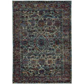 Oriental Weavers Andorra 6846B Blue and Purple