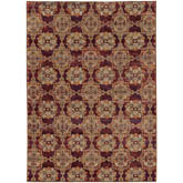 Oriental Weavers Andorra 6883A Red and Gold