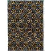 Oriental Weavers Andorra 6883C Blue and Gold