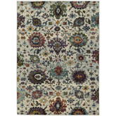 Oriental Weavers Andorra 7129A Stone and Multi