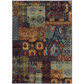 Oriental Weavers Andorra 7137A Multi and Blue