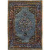Oriental Weavers Andorra 7139A Blue and Multi